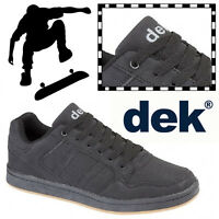 DEK Quark Pro Skate Shoes Synthetic Nubuck Leather Mens Boys Skateboard Trainers