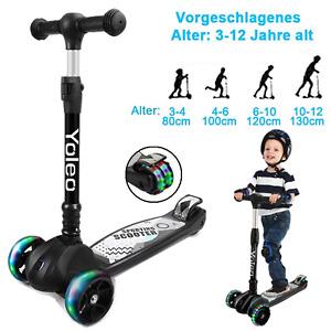 LED Kinder Roller Kinderscooter Dreiradscooter Leuchtenden Räder Hinterbremsen