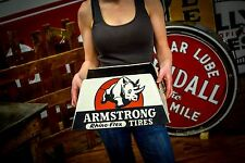 Nice Armstrong Rhino Flex Vintage 40's Tire Stand Sign Service Garage Display