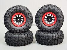 Traxxas TRX-4 Rock CRAWLER  Beadlock Wheels & TIres 130mm   -Set Of 4- RED