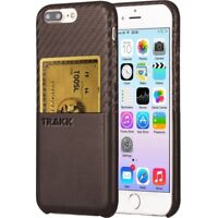 TRAKK SLIM Case for iphone 7 plus PU Leather Card pocket cover Brown