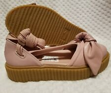 PUMA FENTY BY RIHANNA SIZE 6.5 WOMENS SHOES 365794 01 PINK BOW CREEPER SANDALS