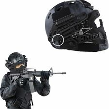 Tactical Protective Helmet Full Face Mask Googles G4 System Airsoft Paintball BK