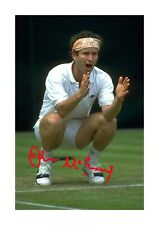 John McEnroe 2 A4 signed mounted photograph poster with choice of frame
