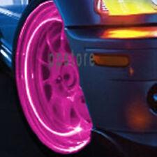 PINK LIGHT TIRE WHEEL VALVE STEM CAP automated LIGHTS MAGENTA LED