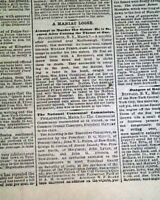 VICTORIA WOODHULL'S SISTER Opposition to the Free Love Doctrine 1872 Newspaper