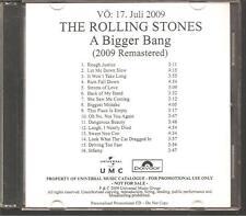 "Rolling stones ""A Bigger Bang"" German acétates promo CD rar"