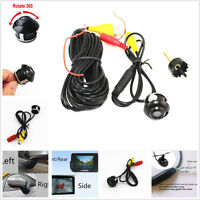Car Front/Rear View CCD 360°Rotatable Eyeball Reverse Backup Camera Waterproof