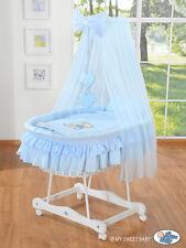 MY SWEET BABY-MAJESTIC BIANCO VIMINI culla in vimini-Blu