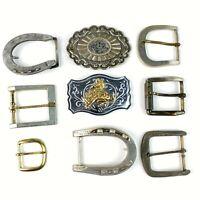 Vintage Belt Buckles WESTERN Brass & more cowboy rodeo LOT OF 9