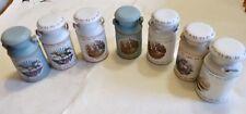 Lot of 7 Jasco Heritage Collection Bisque Porcelain Milk Jugs American Revolutio