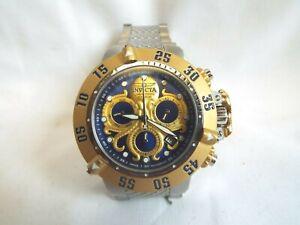 Men's INVICTA 26132 Subaqua NOMA III Chronograph Blue & Gold Octopus SS Watch