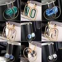 Boho Geometric Rectangular Round Dangle Drop Ear Stud Earrings Women Jewelry