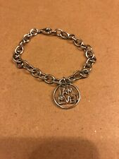Helzberg I am Loved Diamond Sterling silver chain Charm Bracelet