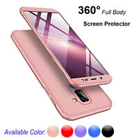 For Samsung Galaxy J4 J8 2018 360° Full Body Hard Case Cover+Screen Protector