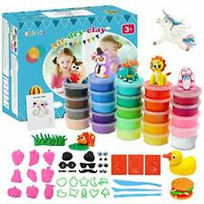 lenbest Air Dry Clay Kit, 24 Colors Modeling Clay Ultra Light Magic Polymer Clay