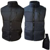 New Mens Bodywarmer Padded Lined Quilted Gilet Body Warmer Coat M - 3XL