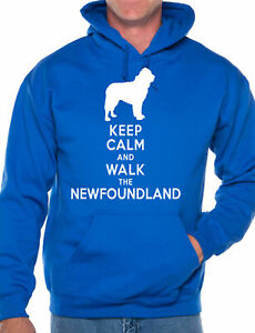 Keep Calm Walk The Newfoundland Dog Lovers Unisex Hoodie Size S-XXL