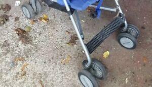 Maclaren Triumph Navy & ORANGE *footrest footplate only ** pushchair parts
