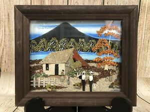 Rafael Rodriguez Campos Mixed Media Art 3D Costa Rica Sand Seeds Folk Art Signed