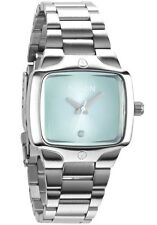 Nixon A300100 Women's The Small Player Blue Dial SS Bracelet Diamond Watch