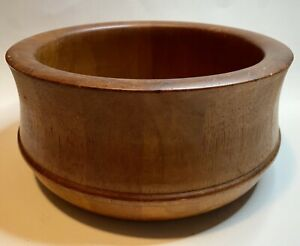 "Danish Modern Richard Nissen Denmark Staved Teak Wood Salad Bowl Large 10.5"" W"