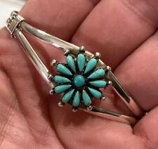 Needlepoint Sterling Silver Bangle Bracelet Star Unique Adjustable Bracelet
