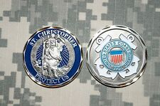 Challenge Coin NEW US Coast Guard 1790 St Christoper Protect Us- New Listing
