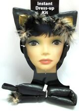 Vinyl Kitty Ears Tail Black Cat Set Halloween Costume Instant Kit
