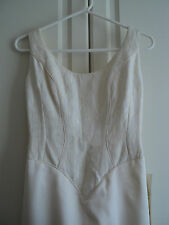 OCEANNA BRIDE MONACO Wedding Ivory Cream Sleeveless Brocade Dress Size 12 BNWT