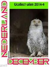 Netherlands  Ucollect owls 4 witte uil kerstmis christmas noell   postfris/mnh