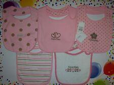 Calvin Klein Bibs 5pc Layette Set Infant Baby Girls OSFM New