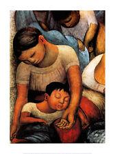 La Noche de Los Pobres Art Poster Print by Diego Rivera, 23.5x31.5