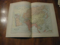 Nice Antique Map of  Asia c 1895 Johnston