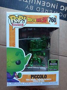 Dragonball Z Piccolo ECCC 2020 Limited Exclusive Green Chrome FUNKO POP 760