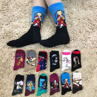 Men Unisex Cotton Socks 3D Printed Art Socks Famous Retro Painting Funny Socks