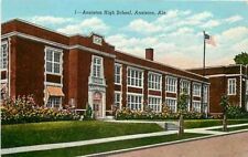 AL, Annistan, Alabama, High School, Quintard  Avenue, Curteich 8A545-N
