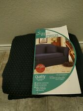 NEW NO PACKAGING Sure Fit Separate Seat Sofa Slipcover Couch Sanger Navy