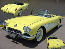 Corvette Chevy 1958 1 Vette Sport Car 24 Vintage 64 Carousel Yellow 18 Metal 12