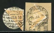 PORTUGESE COLONIES FUNCHAL LOT II  OF TWO SCOTT #1a  BISECTS  ON PIECES