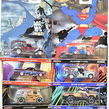 HOT WHEELS POP CULTURE SET OF 6 COMICS VOLKSWAGEN  DODGE MACHO BATMAN
