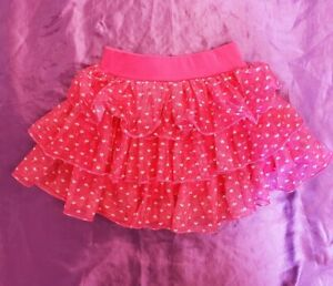 Girl's Beautees Pink Tutu with Hearts - Size 4