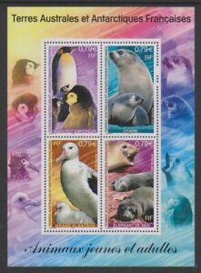 Français Antarctique - 2002, Animaux, Oiseaux Feuille - MNH - Sg MS489