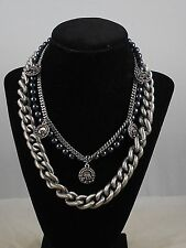 Jessica Simpson Lady In Night Convertible Chunky Necklace