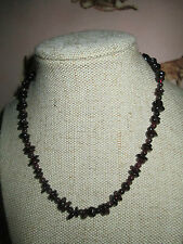 ~ Natural Garnet Gemstones Necklace ~ Rich Red ~ Fabulous Shapes ~ Jewellery ~