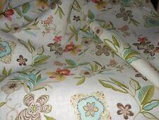 100% Linen Marc Wear fabric Flowers, orchids 5.0 - 6.0 oz 1 linear yard