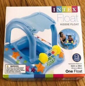 Intex Kiddie Float Blue Canopy Non Toxic Materials NEW Summer Fun