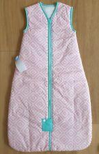 BNWT Baby GROBAG Cotton ZIP Sleep Bag SIZE 6-18 months 2.5 TOG - Pink & White