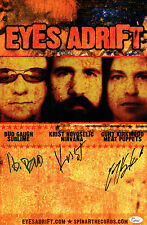 EYES ADRIFT Signed Poster, Krist Novoselic, Bud Gaugh, Curt Kirkwood Nirvana JSA