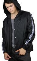 Brixton Mens Marathon Hood Jacket Black White M New